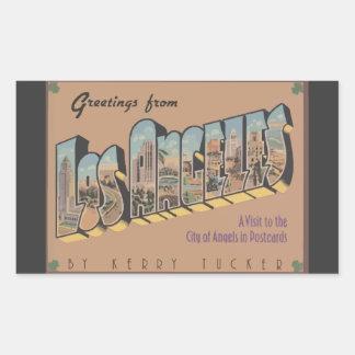 Saludos de Los Ángeles, vintage Rectangular Altavoces