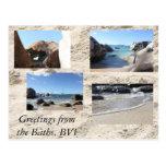 Saludos de los baños, British Virgin Islands Tarjetas Postales
