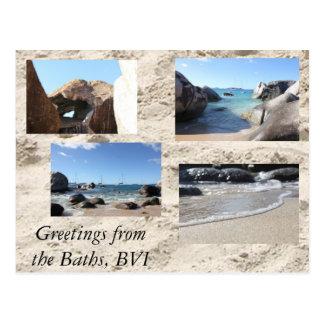 Saludos de los baños British Virgin Islands Tarjetas Postales