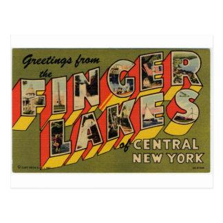 Saludos de los lagos finger, Nueva York Postal