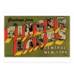 Saludos de los lagos finger, Nueva York Tarjetas Postales