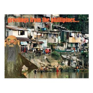 saludos de los phillipines postal