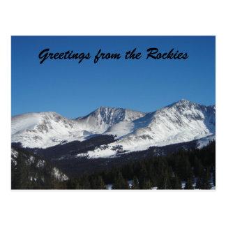 Saludos de los Rockies Tarjetas Postales