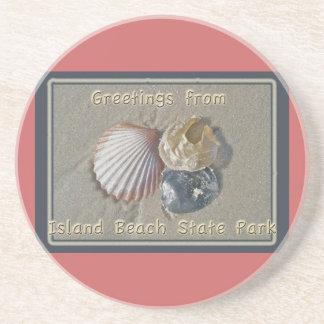 Saludos de los Seashells del parque de playa de IB Posavasos Cerveza