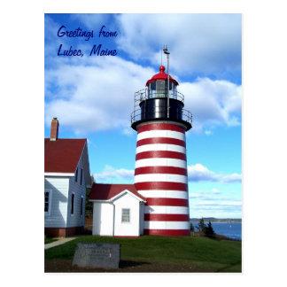Saludos de Lubec, Maine Tarjetas Postales
