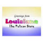 Saludos de Luisiana Postales