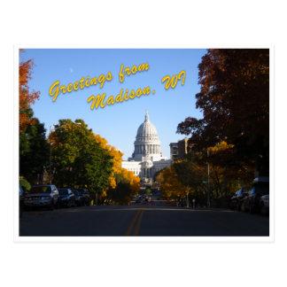Saludos de Madison, WI Tarjetas Postales