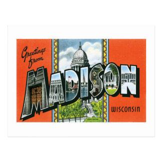 ¡Saludos de Madison, Wisconsin! Postal