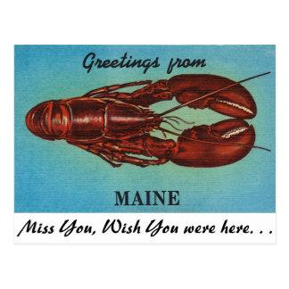 Saludos de Maine Postales