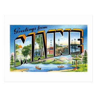 ¡Saludos de Maine! Tarjetas Postales