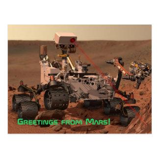 ¡Saludos de Marte! Postal de Rover de la curiosida