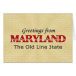 Saludos de Maryland Tarjetas