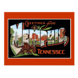 Saludos de Memphis, Tennessee Postales