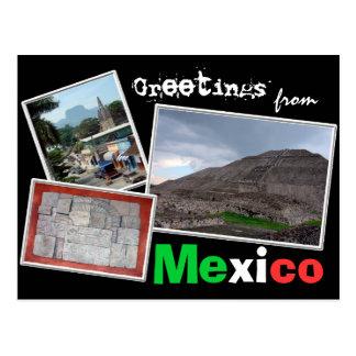 Saludos de México Tarjeta Postal