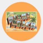 ¡Saludos de Miami Beach, la Florida! Etiqueta