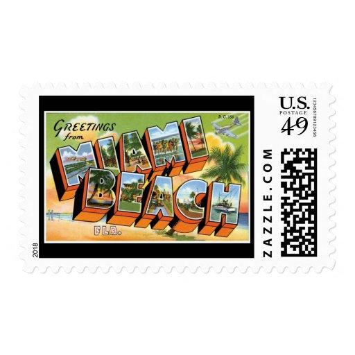 Saludos de Miami Beach la Florida Franqueo