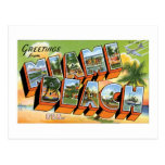 ¡Saludos de Miami Beach, la Florida! Tarjetas Postales