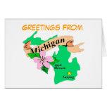 Saludos de Michigan Tarjeton