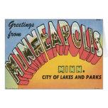 Saludos de Minneapolis Tarjeta De Felicitación