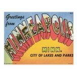 Saludos de Minneapolis Tarjetas Postales
