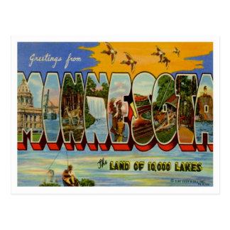 Saludos de Minnesota de estados de los E.E.U.U. Postal