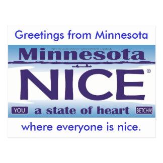 Saludos de Minnesota Niza Postal