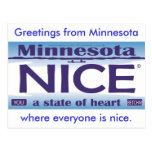 Saludos de Minnesota Niza Tarjetas Postales