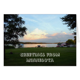 Saludos de Minnesota Tarjeta De Felicitación