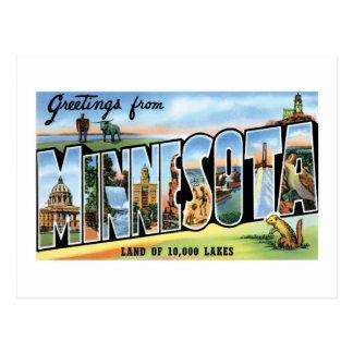 ¡Saludos de Minnesota! Tarjetas Postales
