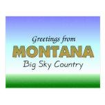 Saludos de Montana Postales
