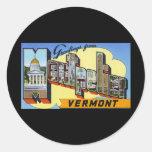 Saludos de Montpelier Vermont Pegatina Redonda
