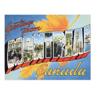 Saludos de Montreal Canadá Tarjeta Postal