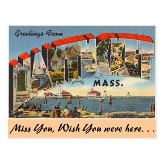 Saludos de Nantucket Tarjetas Postales