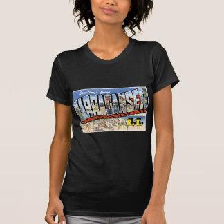 ¡Saludos de Narragansett, Rhode Island! Retro Camiseta