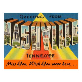 Saludos de Nashville Tarjetas Postales