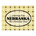 Saludos de Nebraska Tarjeta Postal