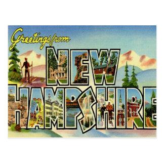 Saludos de New Hampshire Postales