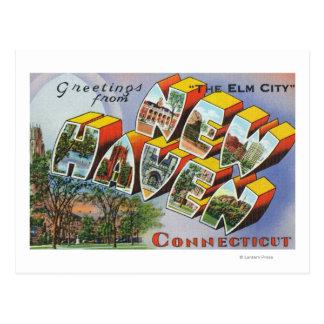 Saludos de New Haven, CT Tarjetas Postales