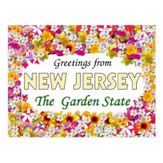 Saludos de New Jersey Postales