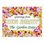Saludos de New Jersey Tarjetas Postales