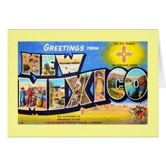 Saludos de New México Tarjeta De Felicitación