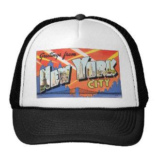 Saludos de New York City, vintage Gorros Bordados