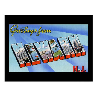Saludos de Newark New Jersey Tarjetas Postales