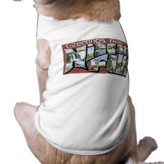 ¡Saludos de Niagara Falls! Playera Sin Mangas Para Perro