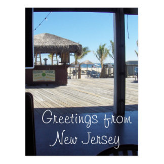 Saludos de NJ - playa agradable del punto Postal