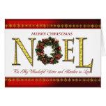 Saludos de Noel para la hermana y el cuñado Tarjetón