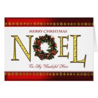 Saludos de Noel para la sobrina Tarjeta De Felicitación