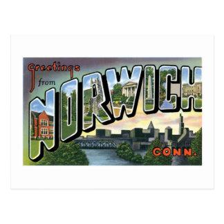 ¡Saludos de Norwich, Connecticut! Tarjetas Postales