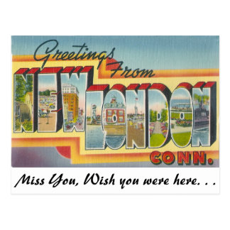 Saludos de nuevo Londres, Connecticut Tarjetas Postales