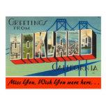 Saludos de Oakland Tarjetas Postales